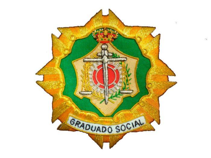 Escudo para toga graduado social fondo blanco