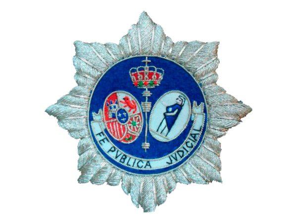 Escudo para toga Fedatario Publico Judicial fondo blanco