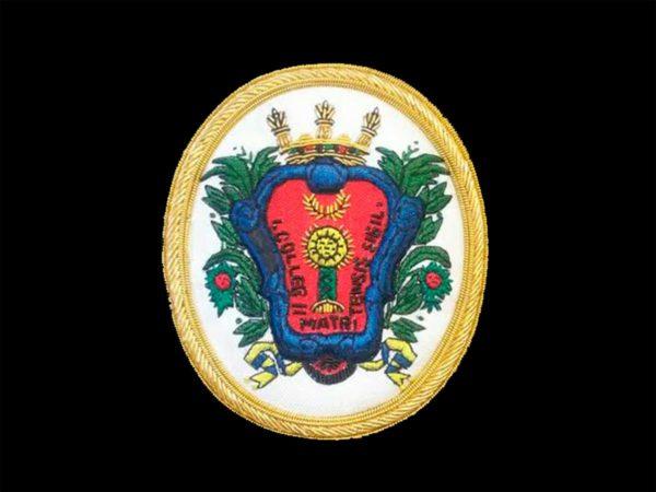 Escudo bordados a maquina, escudos bordados a mano, la tienda de las togas,precio economico,