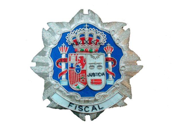 Escudo para toga fiscales justicia fondo blanco