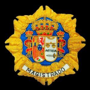 Escudo para toga magistrado fondo negro