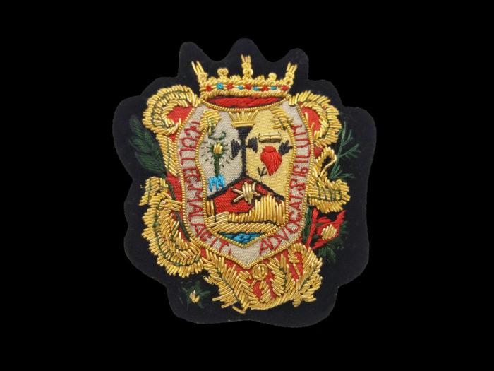 Escudo para Toga hecho a Mano Colegio Abogados de Malaga