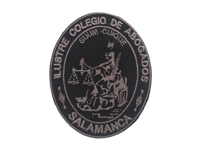 Escudo bordado a maquina colegio de abogados de salamanca