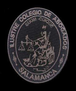 Escudo bordado a maquina colegio de abogados de salamanca negro