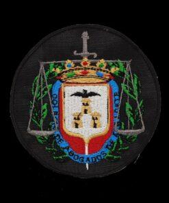 Escudo Bordado a maquina Colegio de Abogados de Alcacete fondo negro