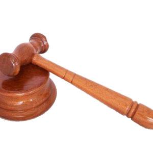 Mazo Juez en Madera de Jatoba de Tienda de Togas
