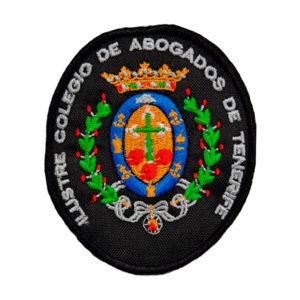 Escudo Bordado a MAQUINA COLEGIO ABOGADOS DE SANTA CRUZ DE TENEREIFE