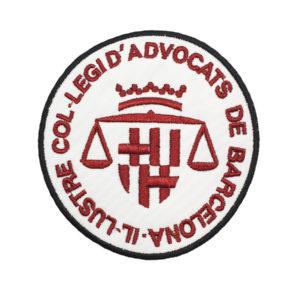 Escudo para poner en la Toga de los Abogados de Barcelona