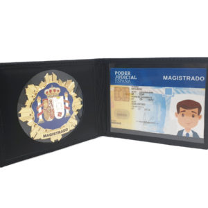 Porta placa y carnet de Magistrado